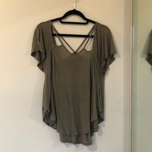 Free People - Cut Out T-Shirt - Size M